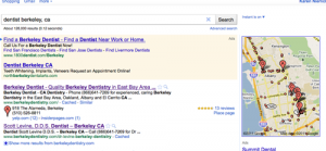 example of Google Places listing for a dentist