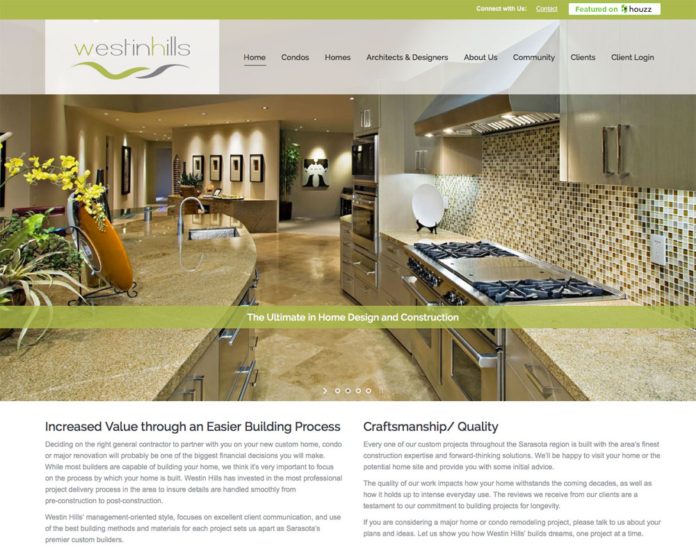... Knock Out Site For Florida Luxury Home And Condo Builder.  Http://westinhillscorp.com/ ...